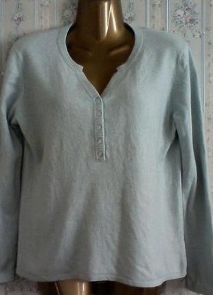 Кашемир с шелком, джемпер-свитер, разм. 48, нюанс
