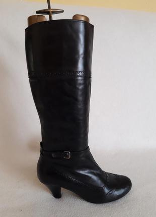 Шикарные кожаные высокие сапоги фирмы varese ( италия) р. 40 стелька 26 см
