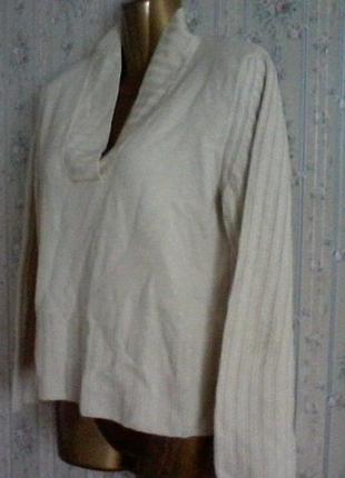 Шерстяной свитер от woolmark, разм. 46-48