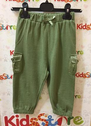 Новые зеленые брюки для девочки, original marines, 1419