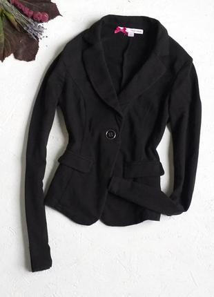 Стильный чёрный базовый трикотажный пиджак от tally weijl