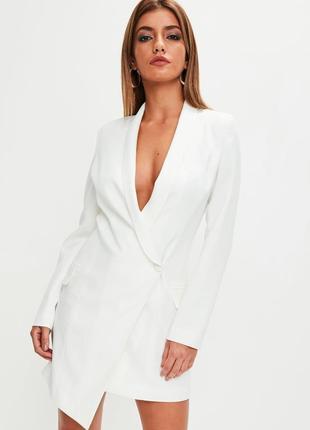 Ассиметричное платье-пиджак missguided uk10