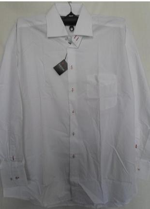 Рубашка мужская popolare  , белая , однотонная