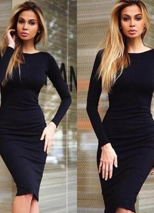 Новое трикотажное платье- футляр, разные размеры и цвета.