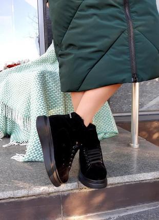 Стильные ботинки из натуральной замши