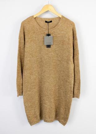 Очень крутое теплое повседневное шерстяное свободное платье оверсайз vila clothes