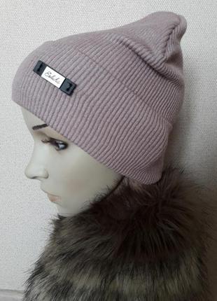 Женские шапки в рубчик 2019 - купить недорого вещи в интернет ... 17f6608de193c