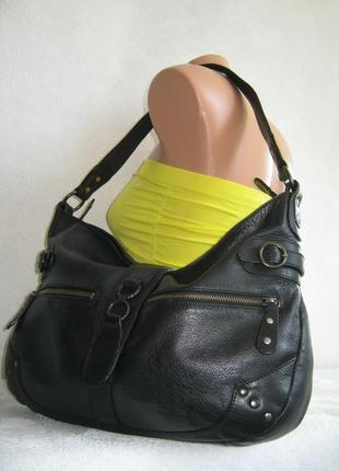 Итальянская кожаная сумка oriano 40х29х8 длинная ручка на плечо натуральная кожа