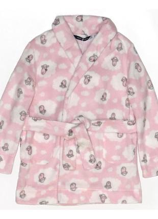 Новый флисовый розовый халат для девочки, original marines, 3987