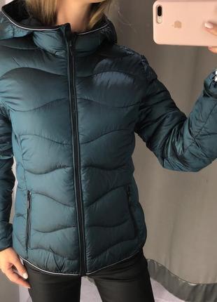 Стёганая куртка хамелеон amisu курточка на синтепоне есть размеры
