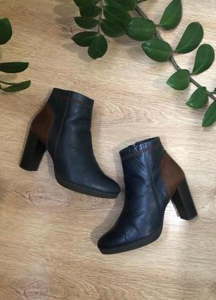 Кожаные  полусапожки/ботиночки 24 см.
