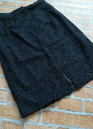 Кружевная юбка, гипюр, etam