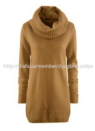 Теплое вязаное платье - гольф h&m . m