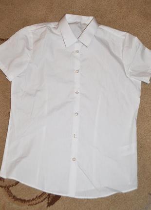 Рубашки белые школьные george р.12-13 лет 152-158 см