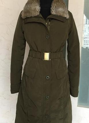 Пуховое пальто tommy hilfiger