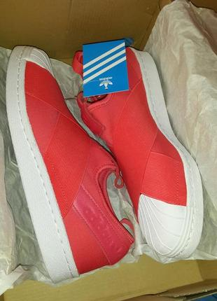 Оригинальные adidas superstar slip on women core pink 38р.,(nike)