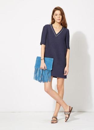 Красивое фактурное платье прямого кроя от дорогого бренда maje