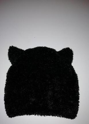 Шапка с ушками кошка зверошапка