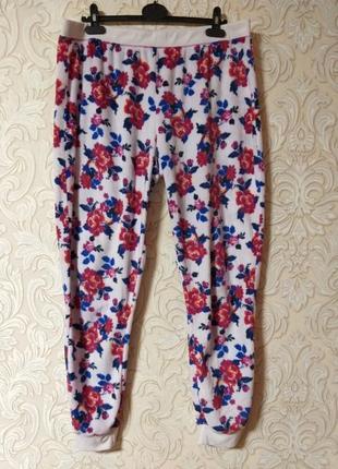 Тёплые пижамные штаны мягкая махра uk 18 наш 52