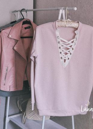 Розовая пайта на шнуровке