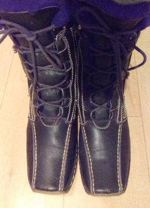 Распродажа!ботинки кожаные натуральный мех tamaris 24 см