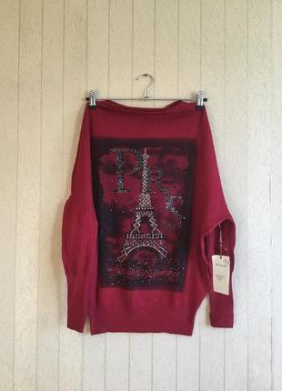 Стильная  женская туника- свитер размера оверсайз