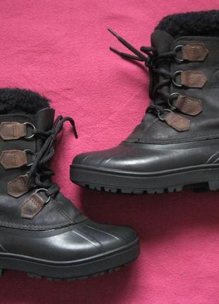 Sorel alpine (37) зимние кожаные ботинки женские