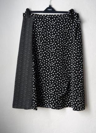 Шифоновая юбка с эффектом запаха