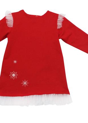 """92-98 см: детское новогоднее платье с вышивкой и фатином """"снежинка"""""""