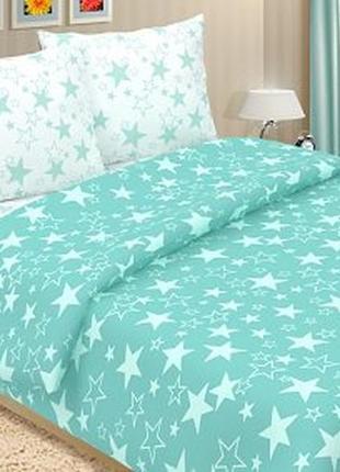 Звезды бирюза - купить постельное белье для взрослых и детей (100% хлопок)