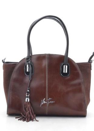 Кожаная сумка velina fabbiano 56412 (3 цвета)