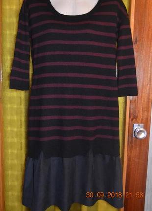 Красивое теплое платье 12р