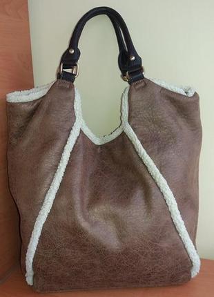 Фірмова стильна англійська сумка шоппер marks & spencer