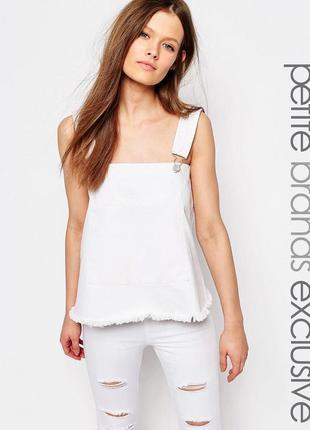 Блуза с необработанным низом waven petite