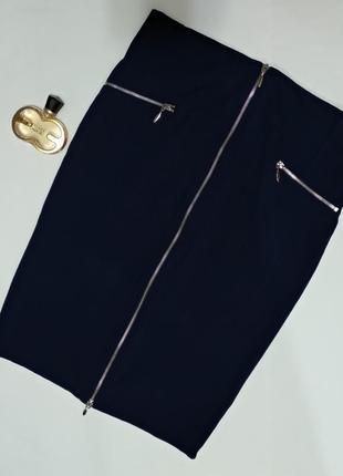 Юбка-карандаш с молнией спереди стрейчевая с разрезом от george