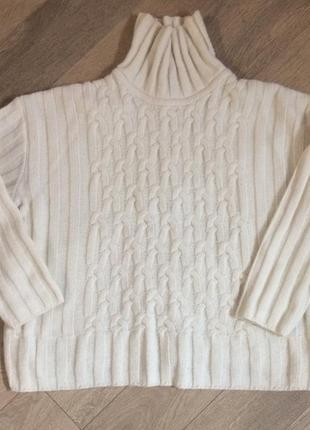 Пуловер  свитер белый 44