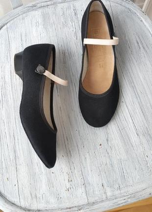 Туфли для танцев с кожаной подошвой2