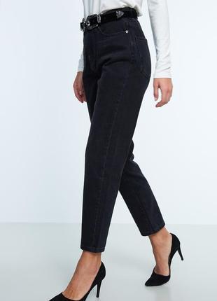 Чёрные mom jeans мом джинс1 фото