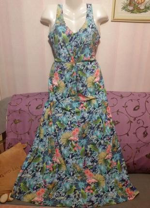Платье - сарафан 3d принт  (пог 48 - 55 см )