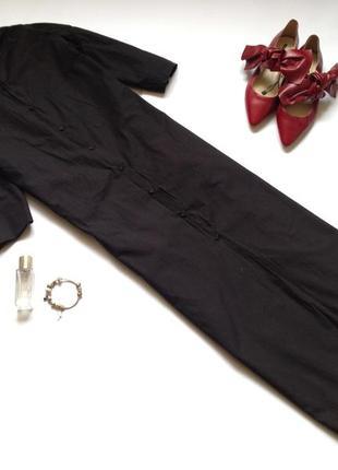 Черное платье рубашка миди zara. смотрите мои объявления!