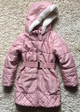 Стильное деми пальто bluezoo на 6-7 лет