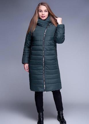 Теплое зимнее пальто больших размеров