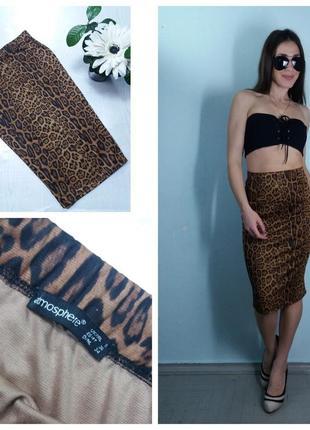 Леопардовая юбка-карандаш миди atmosphere