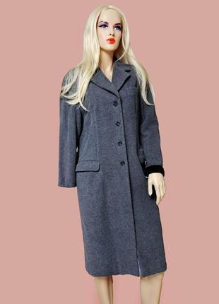 Серое классическое  пальто кашемир