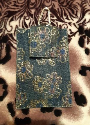 Чехол джинсовый для телефона