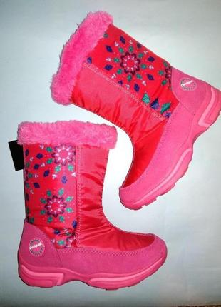 Сапоги зимние desigual fucsia star winter 28-38 рр