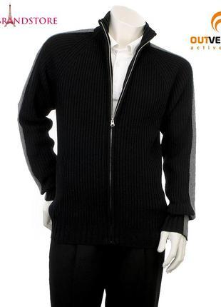 Cвитер outventure 80% шерсть мужской джемпер шерстяной пуловер кофта на молнии осень зима