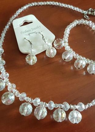 Бижутерия комплект бисер под кристаллы сваровски