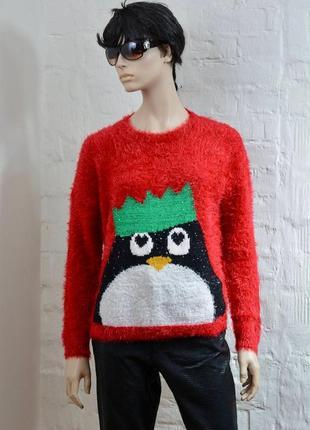 Новогодний свитер джемпер травка. размер l - xl