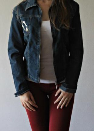 Джинсова куртка за замок  joana jeans
